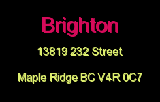Brighton 13819 232 V4R 0C7