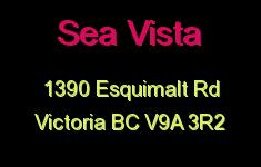 Sea Vista 1390 Esquimalt V9A 3R2