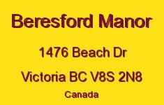 Beresford Manor 1476 Beach V8S 2N8