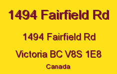 1494 Fairfield Rd 1494 Fairfield V8S 1E8