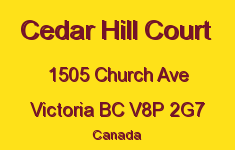 Cedar Hill Court 1505 Church V8P 2G7