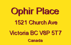 Ophir Place 1521 Church V8P 5T7