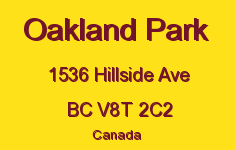 Oakland Park 1536 Hillside V8T 2C2
