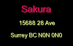 Sakura 15688 28 N0N 0N0