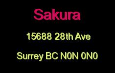 Sakura 15688 28TH N0N 0N0