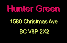 Hunter Green 1580 Christmas V8P 2X2