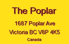 The Poplar 1687 Poplar V8P 4K5
