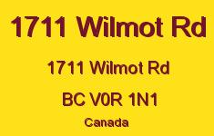 1711 Wilmot Rd 1711 Wilmot V0R 1N1