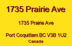 1735 Prairie Ave 1735 PRAIRIE V3B 1U2