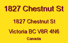 1827 Chestnut St 1827 Chestnut V8R 4N6