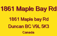 1861 Maple Bay Rd 1861 Maple Bay V9L 5K3