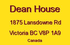 Dean House 1875 Lansdowne V8P 1A9