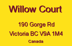 Willow Court 190 Gorge V9A 1M4