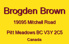 Brogden Brown 19095 MITCHELL V3Y 2C5