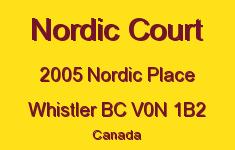 Nordic Court 2005 NORDIC V0N 1B2