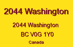 2044 Washington 2044 WASHINGTON V0G 1Y0