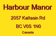 Harbour Manor 2057 Kaltasin V0S 1N0
