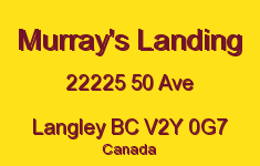Murray's Landing 22225 50 V2Y 0G7