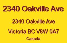 2340 Oakville Ave 2340 Oakville V8W 0A7