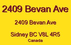 2409 Bevan Ave 2409 Bevan V8L 4R5