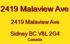 2419 Malaview Ave 2419 Malaview V8L 2G4