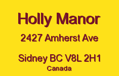 Holly Manor 2427 Amherst V8L 2H1
