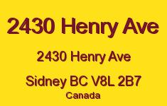 2430 Henry Ave 2430 Henry V8L 2B7