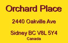 Orchard Place 2440 Oakville V8L 5Y4