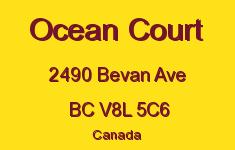 Ocean Court 2490 Bevan V8L 5C6