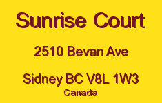 Sunrise Court 2510 Bevan V8L 1W3