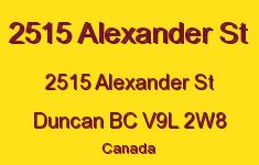 2515 Alexander St 2515 Alexander V9L 2W8