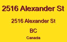 2516 Alexander St 2516 Alexander