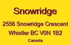 Snowridge 2556 SNOWRIDGE V0N 1B2