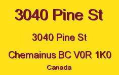 3040 Pine St 3040 Pine V0R 1K0