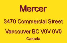 Mercer 3470 COMMERCIAL V0V 0V0