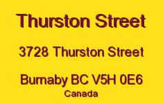 Thurston Street 3728 THURSTON V5H 0E6