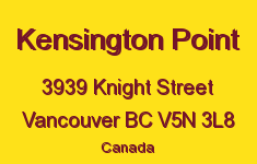 Kensington Point 3939 KNIGHT V5N 3L8