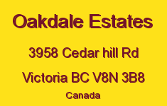 Oakdale Estates 3958 Cedar Hill V8N 3B8