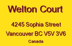 Welton Court 4245 SOPHIA V5V 3V6