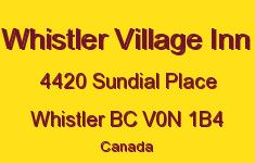 Whistler Village Inn 4420 SUNDIAL V0N 1B4