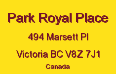 Park Royal Place 494 Marsett V8Z 7J1