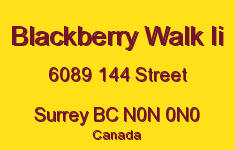 Blackberry Walk Ii 6089 144 N0N 0N0