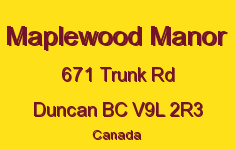 Maplewood Manor 671 Trunk V9L 2R3