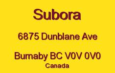 Subora 6875 DUNBLANE V0V 0V0
