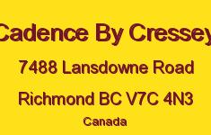 Cadence By Cressey 7488 LANSDOWNE V7C 4N3
