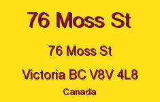 76 Moss St 76 Moss V8V 4L8