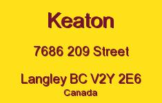 Keaton 7686 209 V2Y 2E6