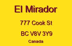 El Mirador 777 Cook V8V 3Y9