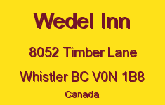 Wedel Inn 8052 TIMBER V0N 1B8