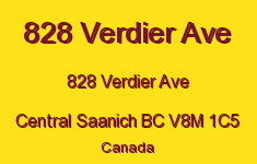 828 Verdier Ave 828 Verdier V8M 1C5